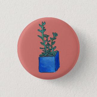 Succulent 3 Cm Round Badge