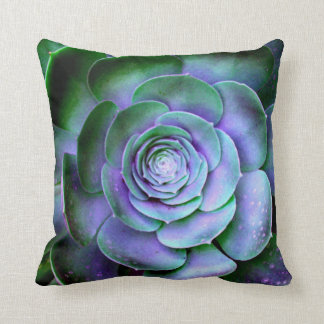 Succulent Abstract Fine Artsy Throw Pillow