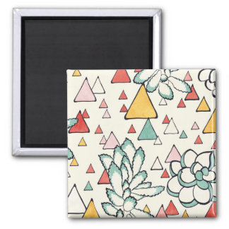 Succulent and triangles Magnet
