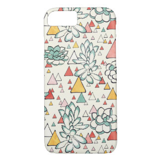 Succulent and triangles Phone Case