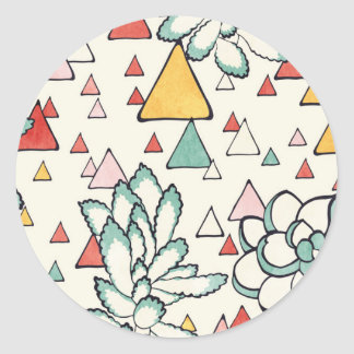 Succulent and triangles Sticker
