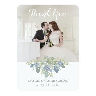 "Succulent Bouquet Wedding Photo Thank You Card 5"" X 7"" Invitation Card"
