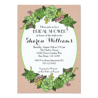 Succulent Bridal Wedding Shower Invitation