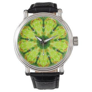 Succulent Cactus Leaves Fractal Watch