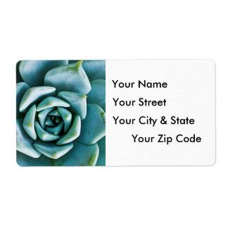 Succulent Closeup Shipping Label