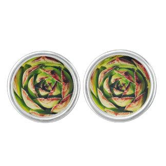 Succulent Cufflinks (Silver Plated)