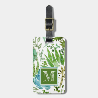 Succulent Field I Luggage Tag