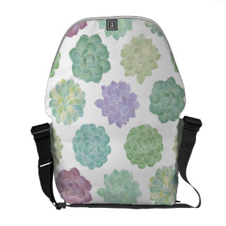 Succulent Garden Pattern Messenger Bag
