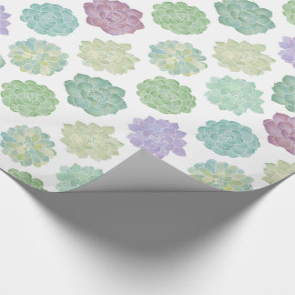 Succulent Garden Pattern Wrapping Paper