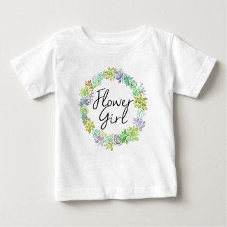 Succulent Garden | Watercolor Flower Girl Baby T-Shirt