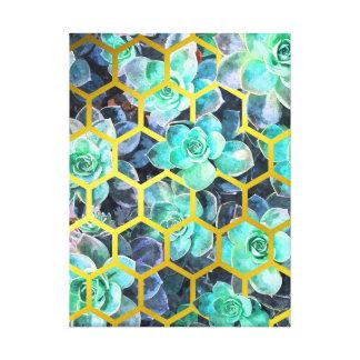Succulent Geometric Modern Illustration Canvas Print