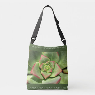 Succulent Green Cross Over Bag