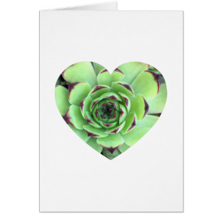 Succulent Heart Shape Photo Thank You Card