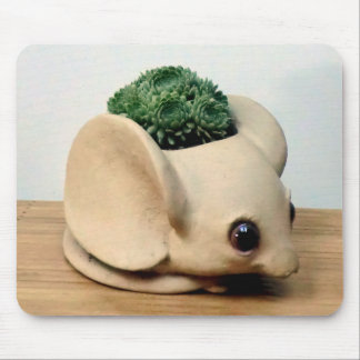 Succulent in Mouse Pot by The Perfect Plant Mouse Pad