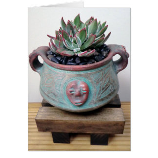 Succulent in Pot by The Perfect Plant Note Card