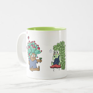 Succulent Lover's Two-Tone Coffee Mug