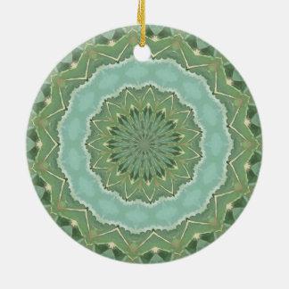 Succulent Mandala Ceramic Ornament