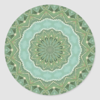 Succulent Mandala Classic Round Sticker