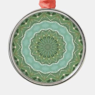 Succulent Mandala Metal Ornament