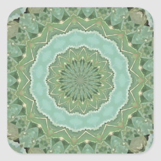 Succulent Mandala Square Sticker