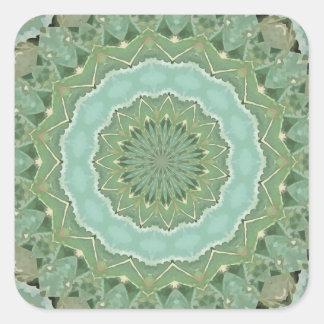 Succulent Mandala Square Sticker
