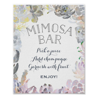 Succulent Mimosa Bar Sign