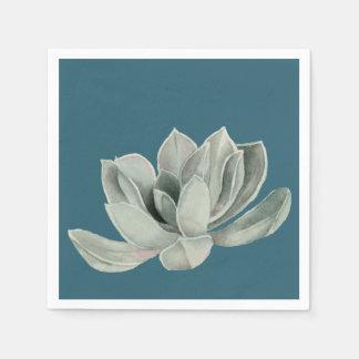 Succulent Plant Watercolor Painting Disposable Serviette