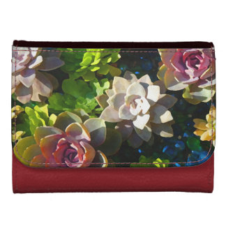 Succulent Pond by Amy Vangsgard Leather Wallets