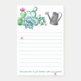Succulent Post-It Note Pad