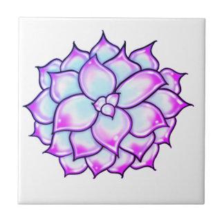 Succulent - purple ceramic tile