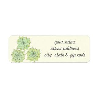 Succulent Return Address Labels
