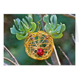 Succulent Rudolph Ornament Holiday Greeting Card