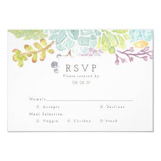 Succulent Spring Garden Watercolor | RSVP Card