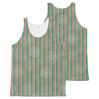 Succulent Stripes All-Over Print Singlet