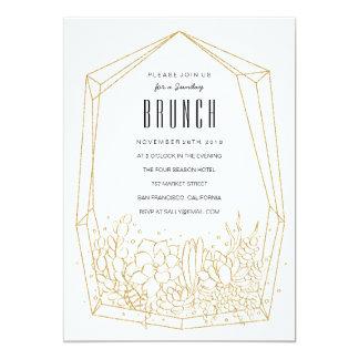 Succulent Terrarium Brunch / Party Invitation