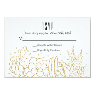 Succulent Terrarium Wedding RSVP Card