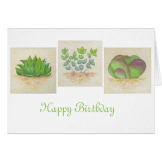 Succulent Trio birthday card