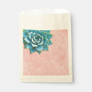 Succulent Watercolor Pink Lace Favour Bags