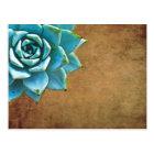 Succulent Watercolor Rustic Brown Postcard