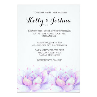 Succulent Wedding Invitation