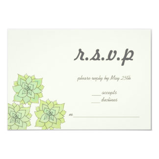 Succulent Wedding RSVP Card