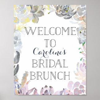 Succulent Welcome Bridal Brunch Sign