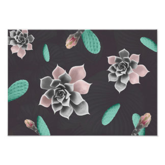 Succulents and cactus joy poster