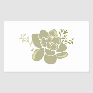 Succulents Base Rectangular Sticker