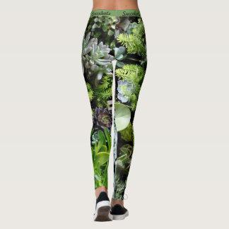 Succulents Botanical Leggings Womens Jogging Yoga