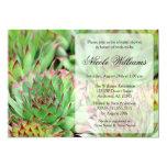 "Succulents Bridal Shower 5"" X 7"" Invitation Card"