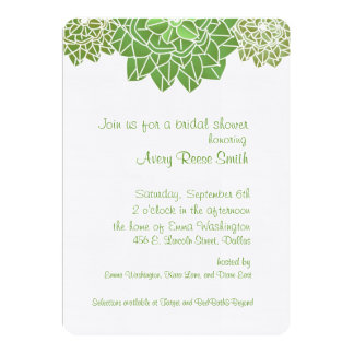 Succulents Bridal Shower Invitation