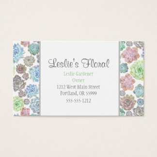 Succulents business cards