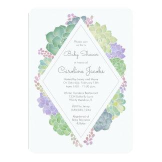 Succulents Garden Baby Shower Invitation