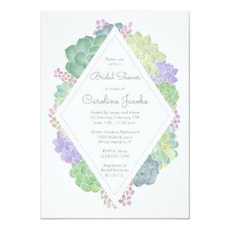 Succulents Garden Bridal Shower Invitation